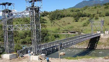 Cina Jalur ganda Bailey jembatan gantung kompak dengan baja portabel pemasok