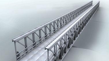 Cina Delta perakitan Modular baja Jembatan Double Lane dengan dek beton pemasok