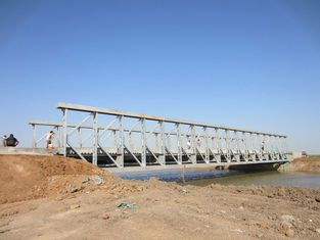 Cina Baja perakitan komersial jembatan penyeberangan sementara Tinggi Kekakuan pemasok
