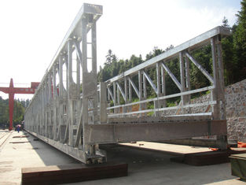 Cina Prefabrikasi Modular baja Jembatan / tentara Bailey Bridge kekuatan tinggi pemasok