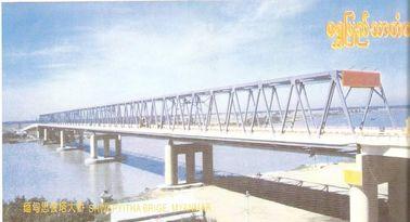 Cina Tetap Baja Truss Bridge / Rangka Baja Jembatan Dengan kekuatan tinggi pemasok