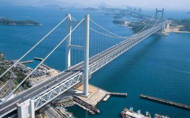 Cina Struktur sederhana kabel baja jembatan gantung terpanjang rentang Sungai pemasok