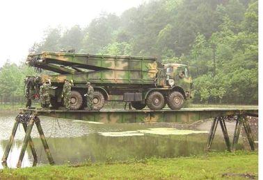 Cina Otomatis Single Span Deck Heavy Mekanik Bridge Untuk Transportasi Sementara pemasok
