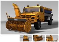 750km Transport Semi Trailer Snow Sweeper Vehicle Telescopic Shock Absorber
