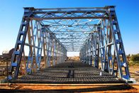 China Steel Frame Steel Truss Bridge Single lane For Ferry , Assembly factory