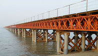 China Prefabricated Compact Bailey Bridge / Portable Steel Bridge Light Weight factory