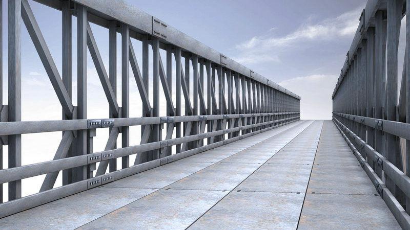 pont en acier modulaire voie unique. Black Bedroom Furniture Sets. Home Design Ideas