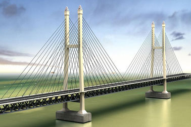 China Steel Truss Cable Stay Bridges Suspension With High Strengthon sales