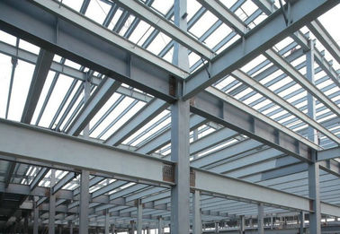 High Strength Pre-fabricated Steel Building Structures for High - Raise Building, Stadiums