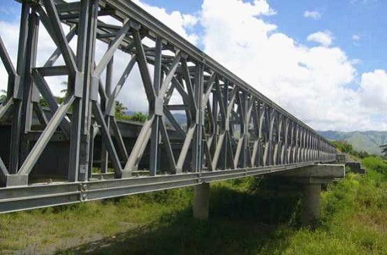 Assembly Steel Bailey Bridge Deck Truss Concrete Deck