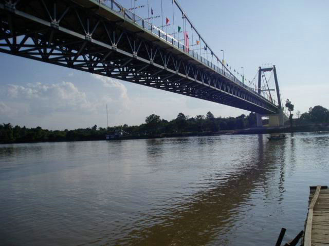 Great Stability Steel Suspension Bridges railway traffic for Longest Spans