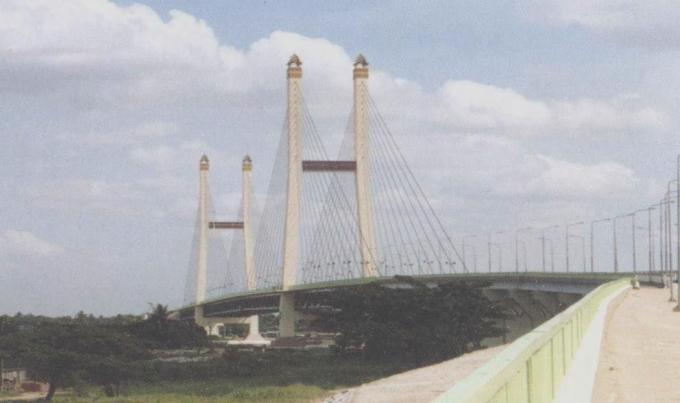 Steel Cable Suspension Cable Stay Bridges High Strength for Large span